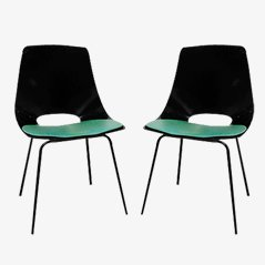 Tonneau Chairs by Pierre Guariche for Steiner, 1950s, Set of 2