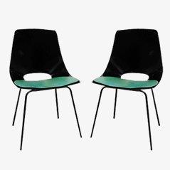 Tonneau Stühle von Pierre Guariche für Steiner, 1950er, 2er Set