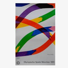 Olympische Spiele in München Lithographie von Piero Dorazio für Siedbrook, 1972