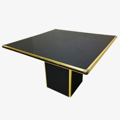 Black Dining Table, 1980s