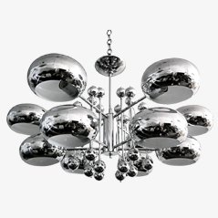 Large Chrome Hanging Lamp