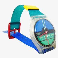 Horloge Murale Maxi par Swatch, 1986