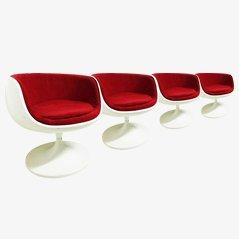 Sedie in fibra di vetro di Eero Aarnio, anni '60, set di 4