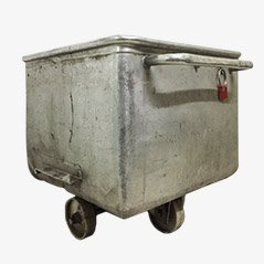 Industrial Metal Factory Cart, 1960s