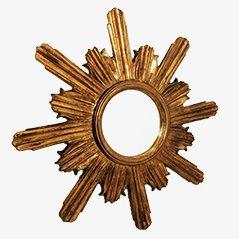 Goldener Vintage Sonnenstrahl Spiegel