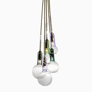 Lampada a sospensione Vitro Lux con cinque luci di Sarah Colson
