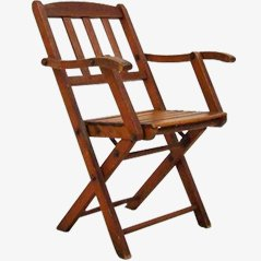 Chaise d'Enfant Pliable Vintage, 1950s