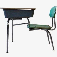 Fiberglas Schultisch von Bargen für Schoolco, 1950er