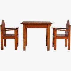 Vintage Kinderset, Tisch & 2 Stühle, 1960er