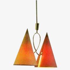 Lámpara colgante italiana, años 50