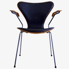 Leather Front Butterfly Chair by Arne Jacobsen for Fritz Hansen