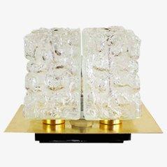 Lámpara de mesa de latón y vidrio
