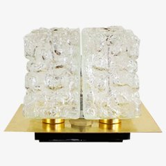 Messing & Glas Wand- oder Tischlampe