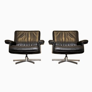 Swiss DS 35 Swivel Lounge Armchairs from de Sede, 1970s, Set of 2