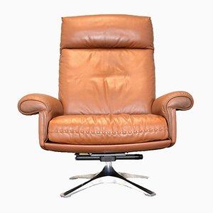 DS 31 Hellbrauner Vintage Leder Lounge Sessel von de Sede, 1970er