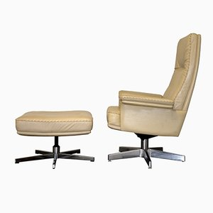 Vintage DS 35 Executive Swivel Lounge Armchair & Ottoman from de Sede, 1970s