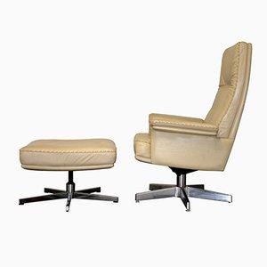 Vintage DS 35 Executive Swivel Lounge Armchair & Ottoman from de Sede, 1970s