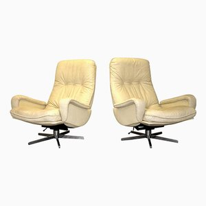 Vintage Swiss S 231 Swivel Lounge Armchairs from de Sede, 1960s, Set of 2