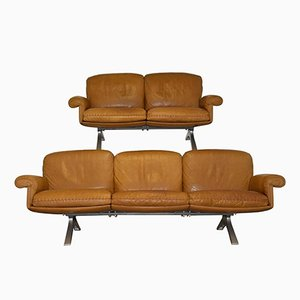 Swiss Vintage DS 31 Sofas from de Sede, 1970s, Set of 2