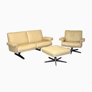 Swiss Vintage DS 35 2-Seater Sofa and Armchair from De Sede, 1970s