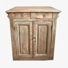 Vintage French Wooden Counter