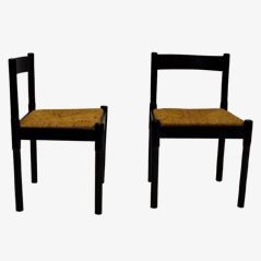 Carimate Dining Chairs by Vico Magistretti for Cassina, 1950s, Set of 4