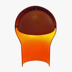 Vintage Orange Lamp by Vico Magistretti, 1965
