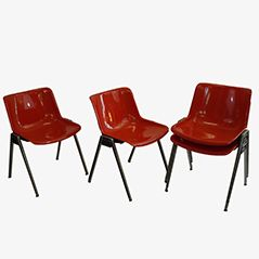 Chairs by Osvaldo Borsani for Tecno, Set of 4