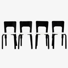 Dining Chairs by Alvar Aalto for Artek, 1950s, Set of 4