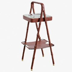 Vintage Smoking Stand by Jacques Adnet, 1950