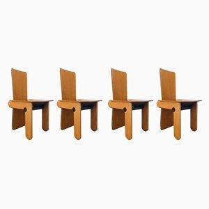 Vintage Esszimmerstühle von Carlo Scarpa für Gavina, 4er Set