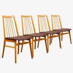 Chaises de Salon Vintgae en Hêtre, Set de 4
