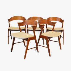 Dining Chairs by Kai Kristiansen for KS Mobelfabrik, Set of 5