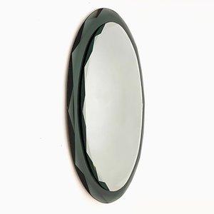 Italian Oval Wall Mirror from Santambrogio & De Berti, 1950s