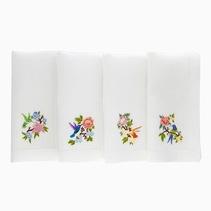 Tovaglioli Colibri di The NapKing per Bellavia Ricami SPA, set di 4