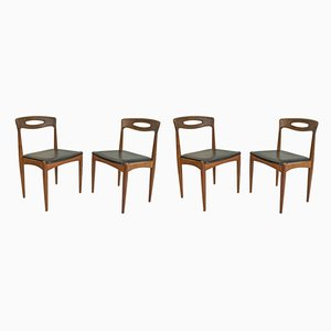 Scandinavian Teak Dining Chairs from Samcon, 1960s, Set of 4