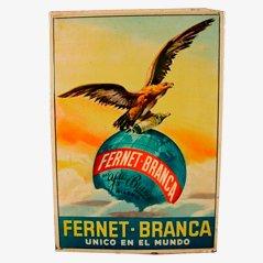 Vintage 'Ferenet Branca' Blechschild, Spanien, 1910er
