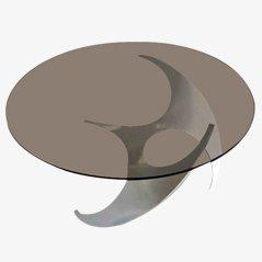 Mesa de centro Propeller de vidrio de Knut Hesterberg para Ronald Schmidt, años 60