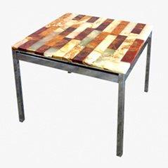 Vintage Tisch mit Marmorplatte, 1970er