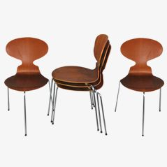 Ant Chairs by Arne Jacobsen for Fritz Hansen, 1952, Set of 5