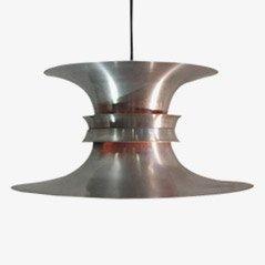 Lámpara de techo danesa de aluminio de Bent Nordsted, años 60