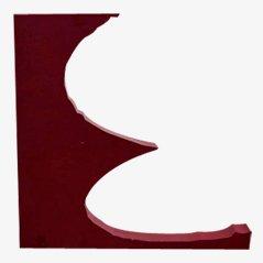 Lettre E Décorative Vintage, 1970s