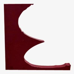 Vintage Decorative Letter E, 1970s