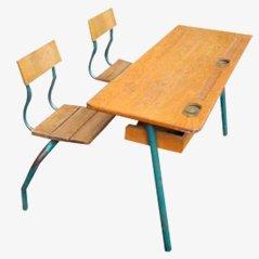 Vintage School Desk, France, 1950s