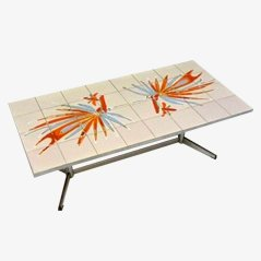Table Basse en Tuiles Vallauris, 1970s