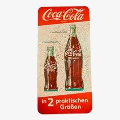 Insegna pubblicitaria Coca-Cola vintage, anni '50