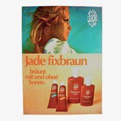 Insegna pubblicitaria vintage Jade Fixbraun, anni '70
