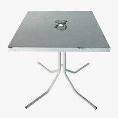 Tavolo da bistrò vintage Fischer Bräu, anni '50