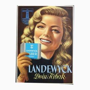 Vintage Landewyck Tabak Advertisement, 1950s