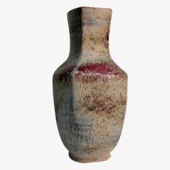 Jarrón vintage grande de cerámica de Karlsruher Majolika, años 70